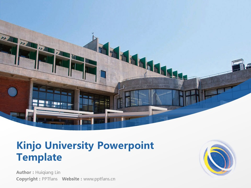 Kinjo University Powerpoint Template Download | 金城大学PPT模板下载_slide1