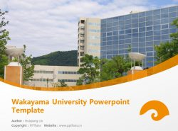 Wakayama University Powerpoint Template Download | 和歌山大学PPT模板下载