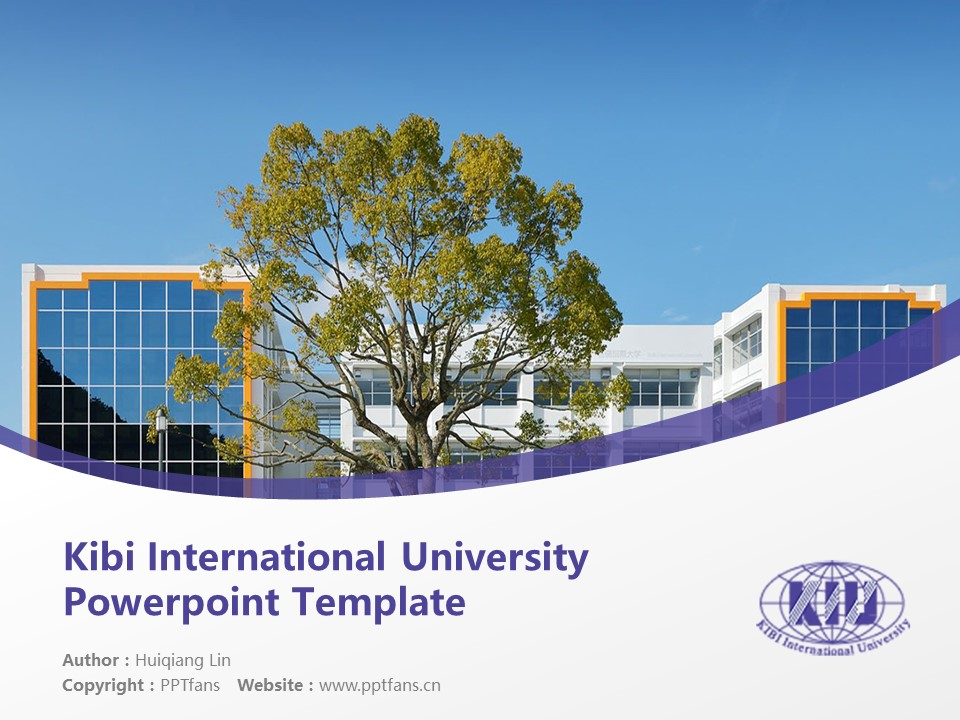 Kibi International University Powerpoint Template Download | 吉备国际大学PPT模板下载_slide1