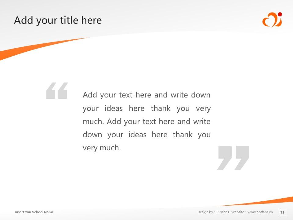 Mimasaka University Powerpoint Template Download   美作女子大学PPT模板下载_slide13