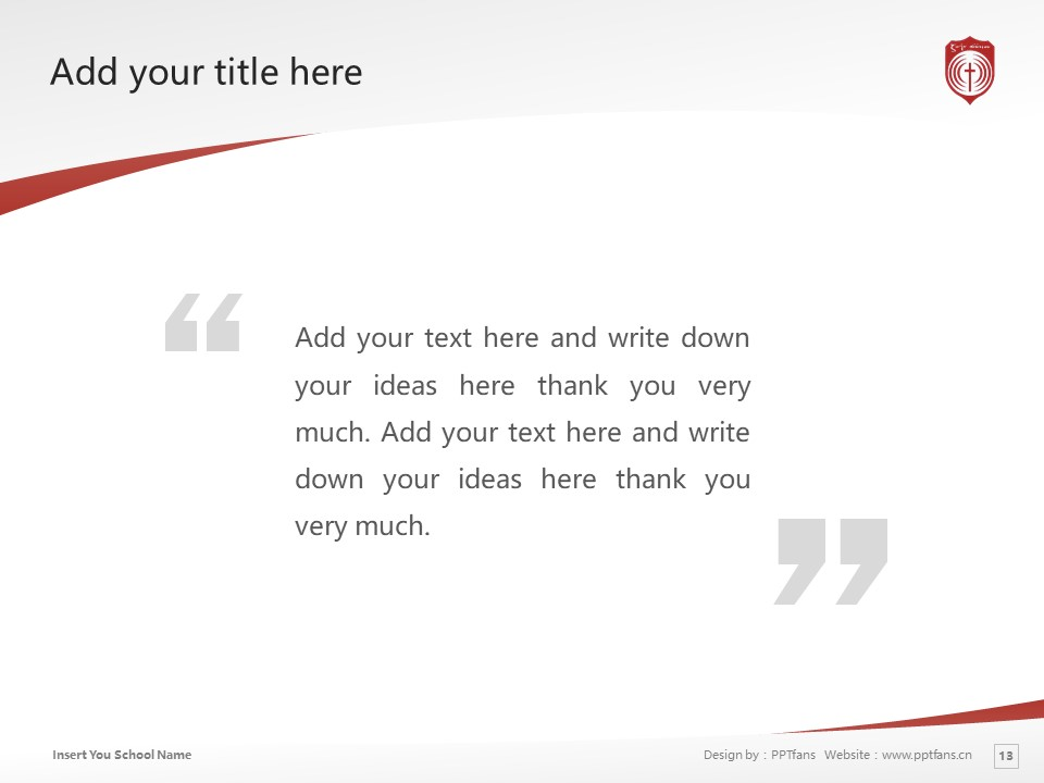 Poole Gakuin Powerpoint Template Download | 普尔学院大学PPT模板下载_幻灯片13
