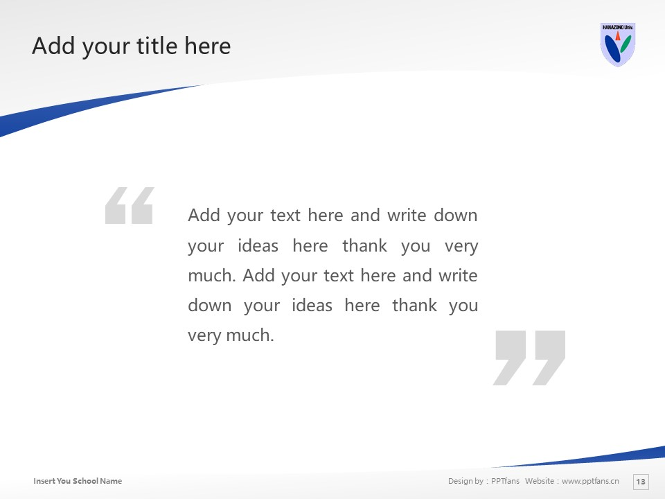 HANAZONO UNIVERSITY Powerpoint Template Download | 花园大学PPT模板下载_slide13