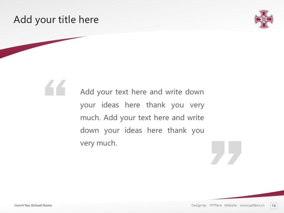 Kinjo Gakuin University Powerpoint Template Download | 金城学院大学PPT模板下载_slide13