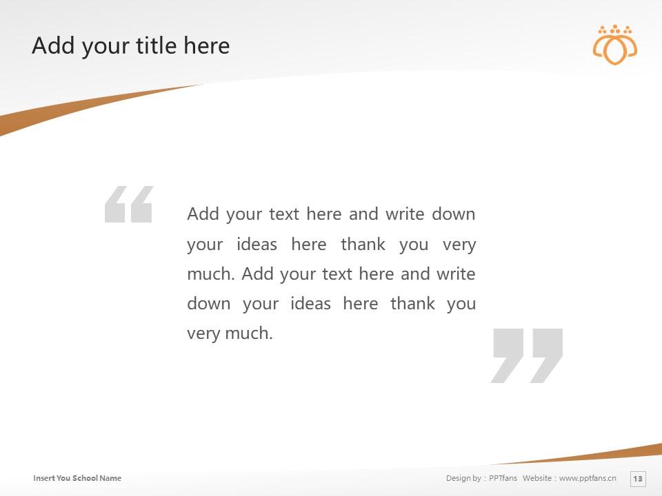 Tsurumi University Powerpoint Template Download | 鹤见大学PPT模板下载_slide13