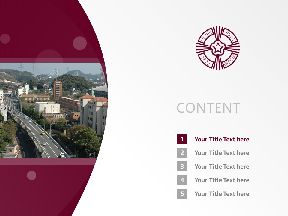 Baiko Gakuin University Powerpoint Template Download | 梅光学院大学PPT模板下载_slide2