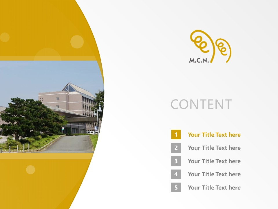 Mie Prefectural College Of Nursing Powerpoint Template Download | 日本津市的公立大学PPT模板下载_slide2