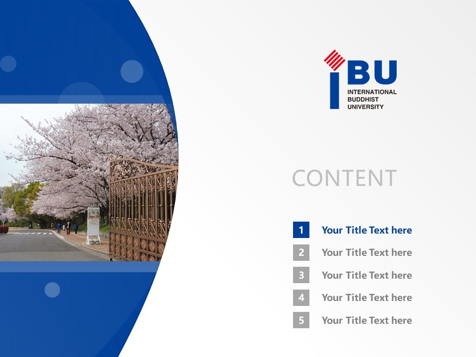 Shitennoji University Powerpoint Template Download | 四天王寺国际佛教大学PPT模板下载_slide2