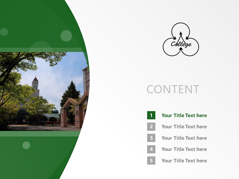 Matsuyama Shinonome College Powerpoint Template Download | 松山东云女子大学PPT模板下载_slide2