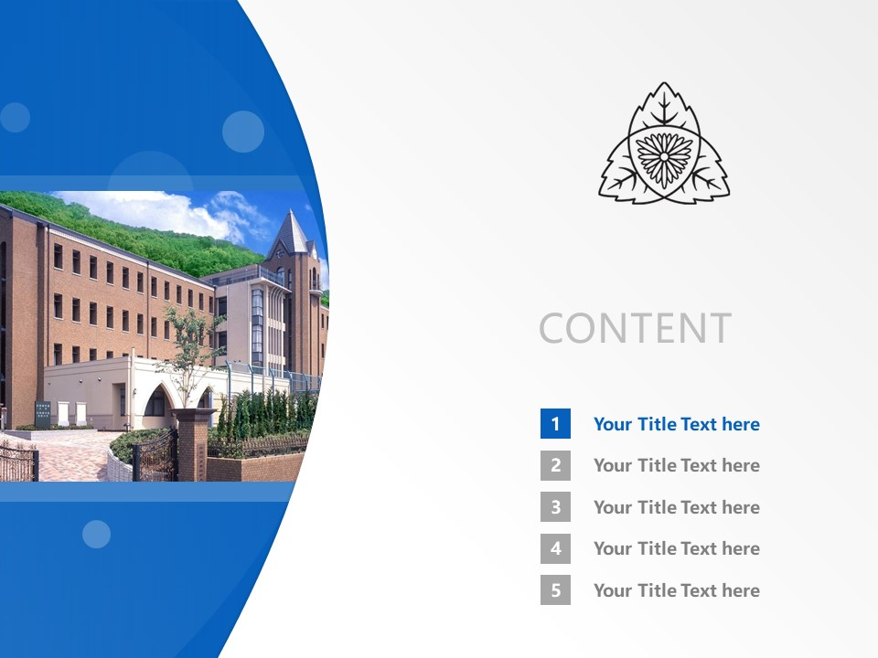 Shijonawate Gakuen University Powerpoint Template Download | 四条裰学园大学PPT模板下载_slide2