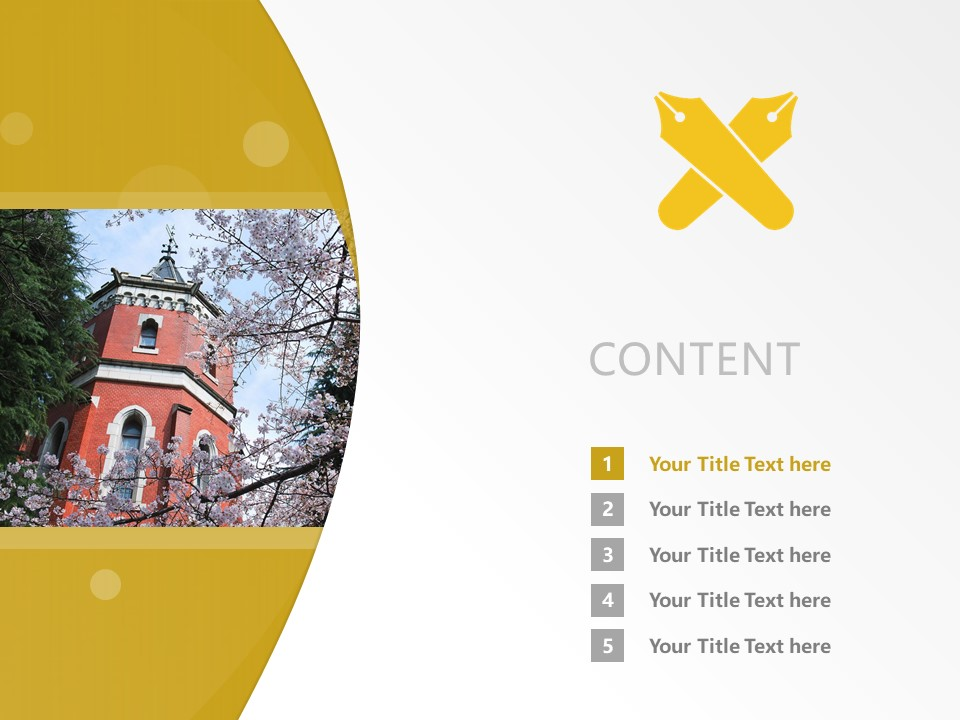 Keio University Powerpoint Template Download | 庆应义塾大学PPT模板下载_幻灯片2