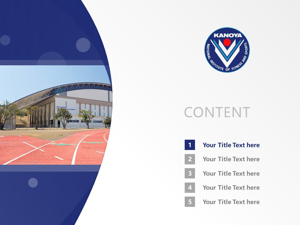 National Institute of Fitness and Sports in Kanoya Powerpoint Template Download | 鹿屋体育大学PPT模板下载_幻灯片2