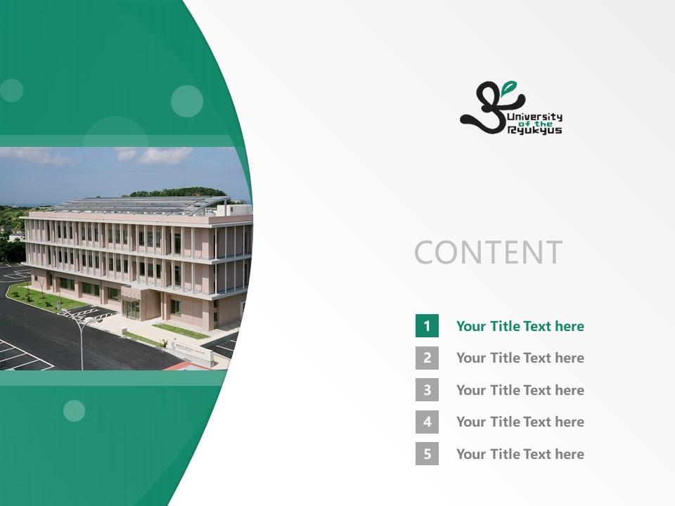 University of the Ryukyus Powerpoint Template Download | 琉球大学PPT模板下载_幻灯片2
