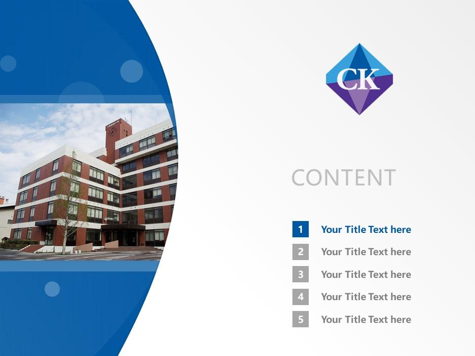 Chiba Keizai University Powerpoint Template Download | 千叶经济大学PPT模板下载_幻灯片预览图2