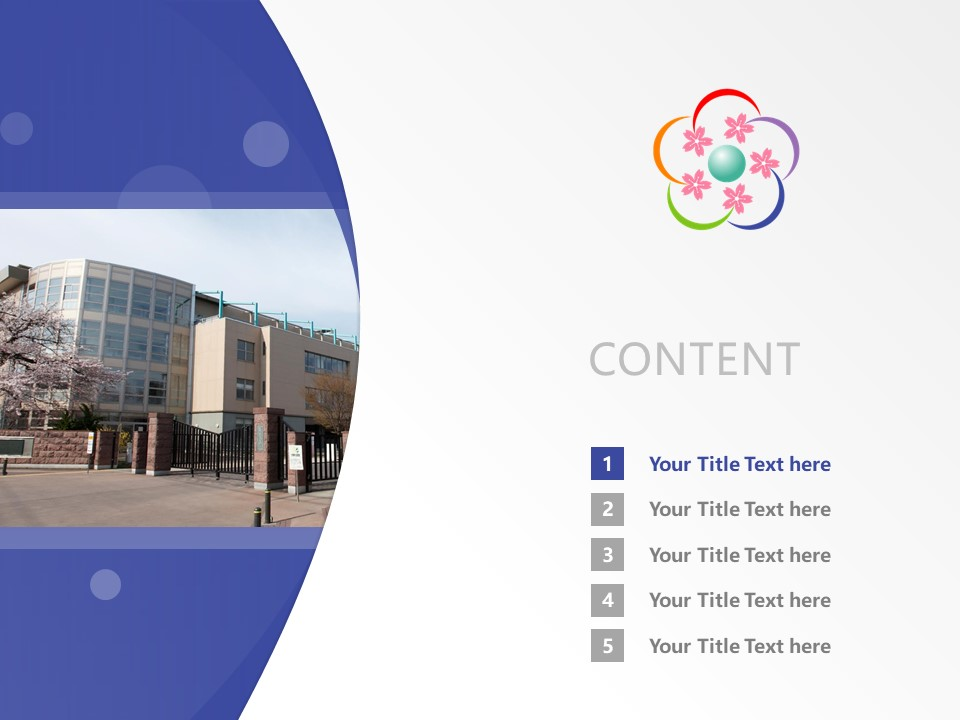 Hirosaki University Powerpoint Template Download | 弘前大学PPT模板下载_幻灯片2