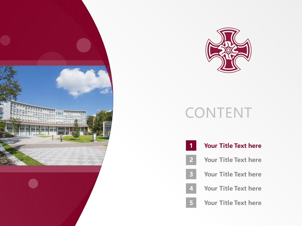 Kinjo Gakuin University Powerpoint Template Download | 金城学院大学PPT模板下载_幻灯片2