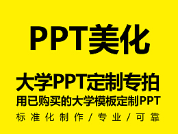 大學PPT定制/美化服務(暫僅針對已購買了大學模板的用戶)