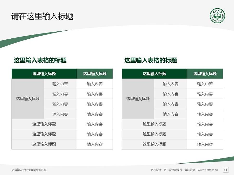中山大学PPT模板下载_幻灯片预览图11