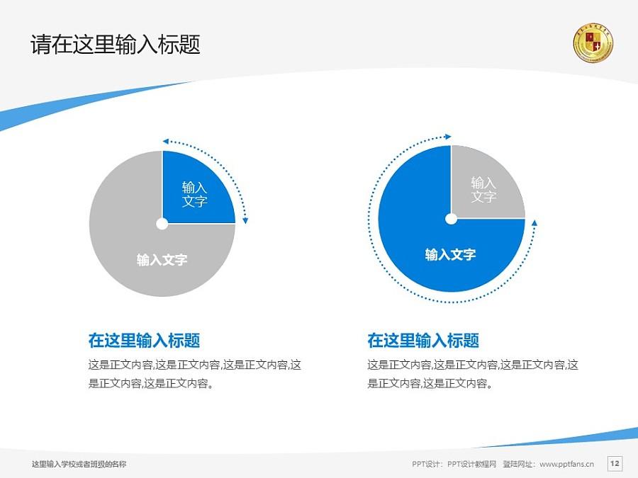 肇慶工商職業技術學院PPT模板下載_幻燈片預覽圖12