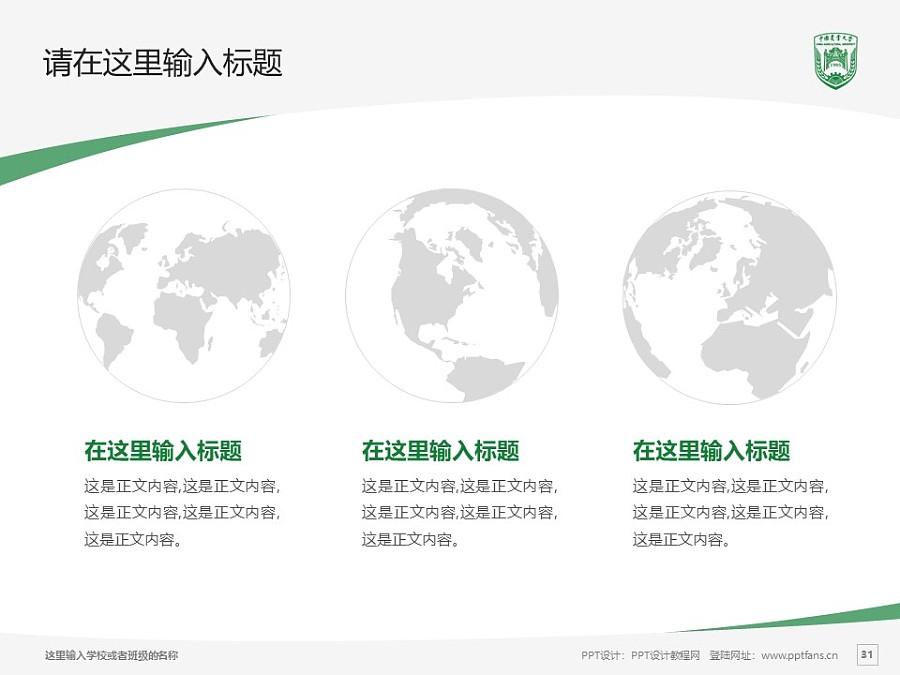 中国农业大学PPT模板下载_幻灯片预览图31