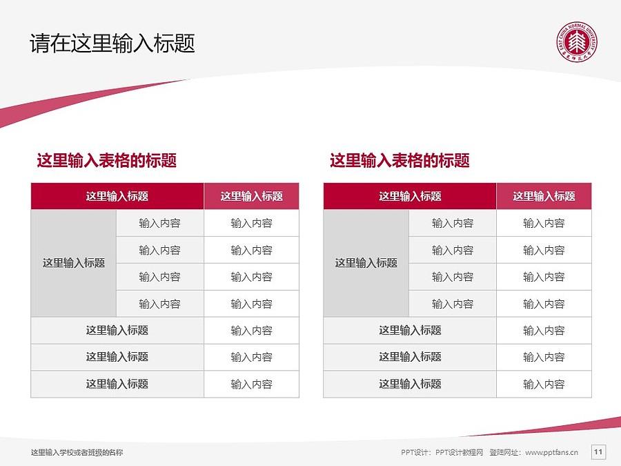 华东师范大学PPT模板下载_幻灯片预览图11