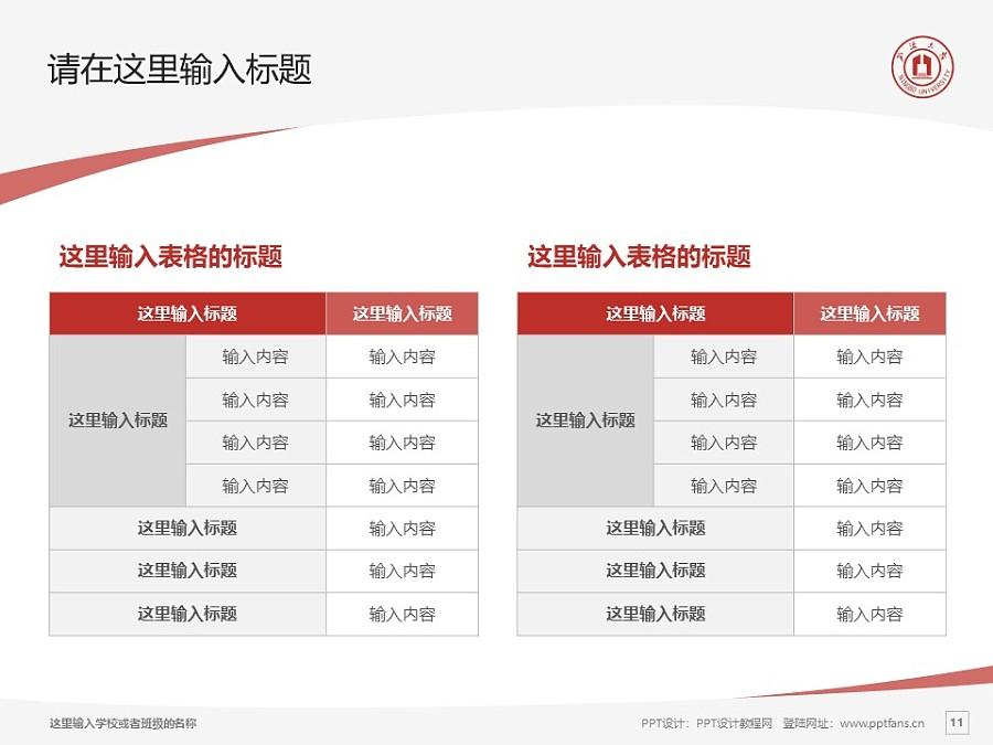 宁波大学PPT模板下载_幻灯片预览图11