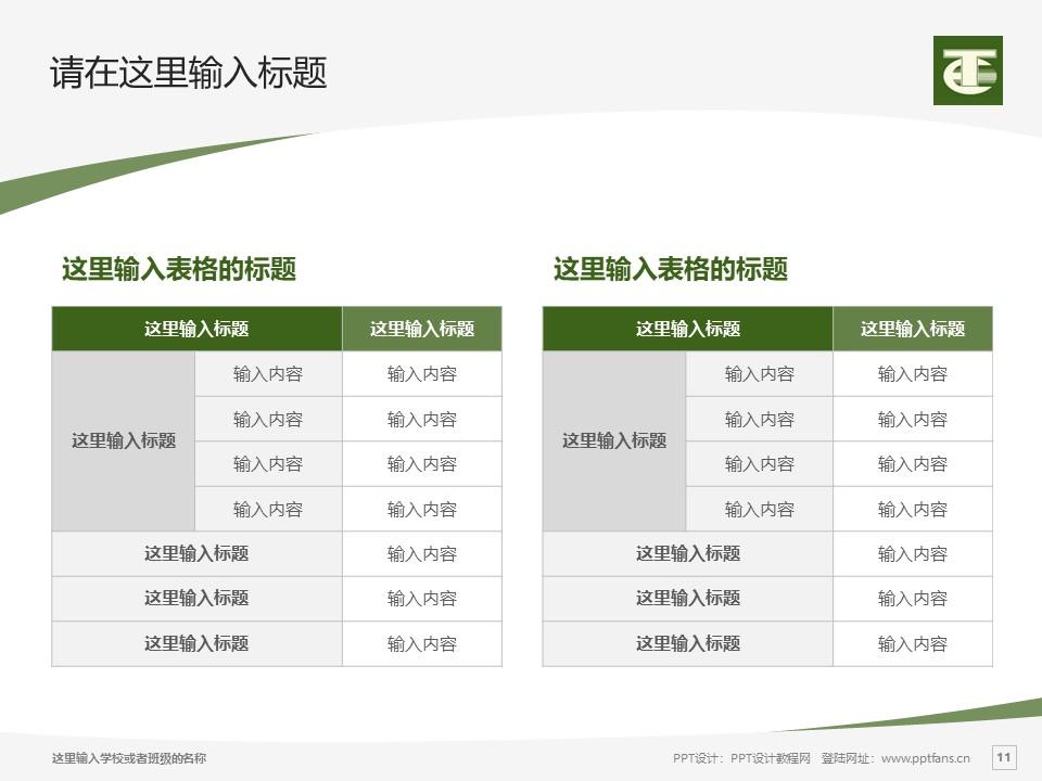 民办安徽旅游职业学院PPT模板下载_幻灯片预览图11