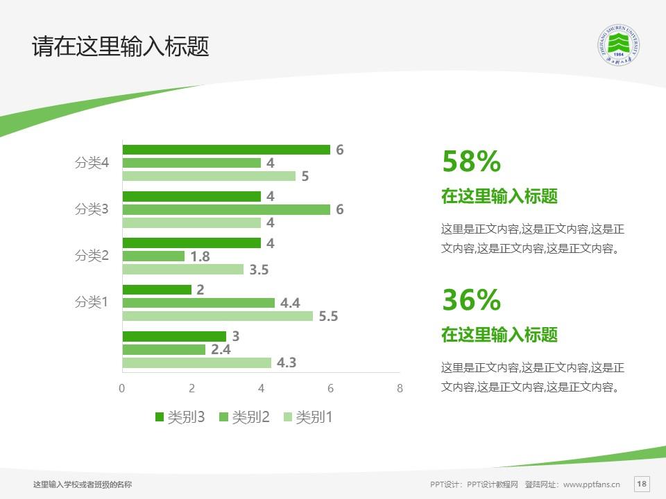 浙江树人学院PPT模板下载_幻灯片预览图18