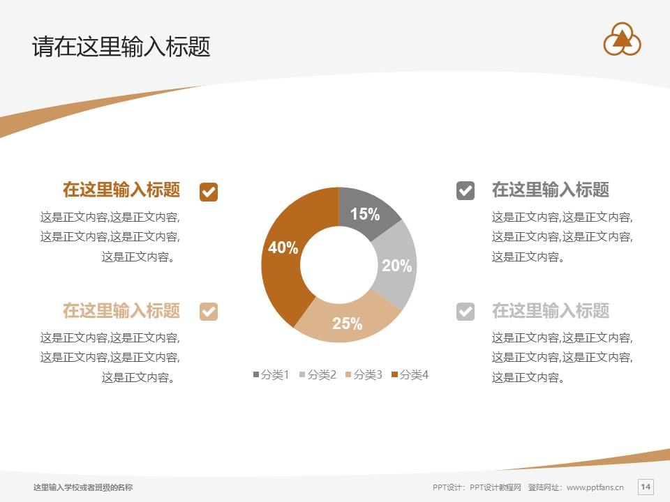 上海中华职业技术学院PPT模板下载_幻灯片预览图14