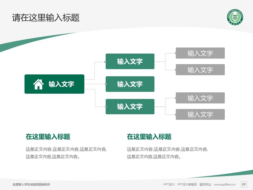 南京林业大学PPT模板下载_幻灯片预览图22
