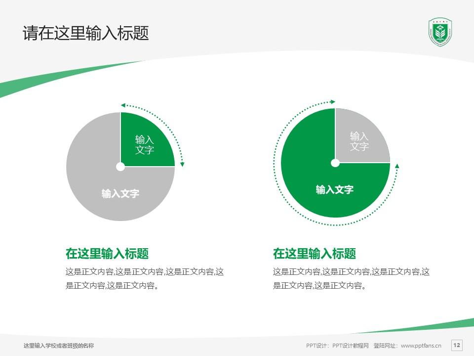 江苏食品药品职业技术学院PPT模板下载_幻灯片预览图12