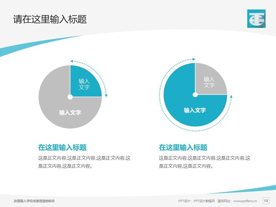蚌埠经济技术职业学院PPT模板下载_幻灯片预览图12