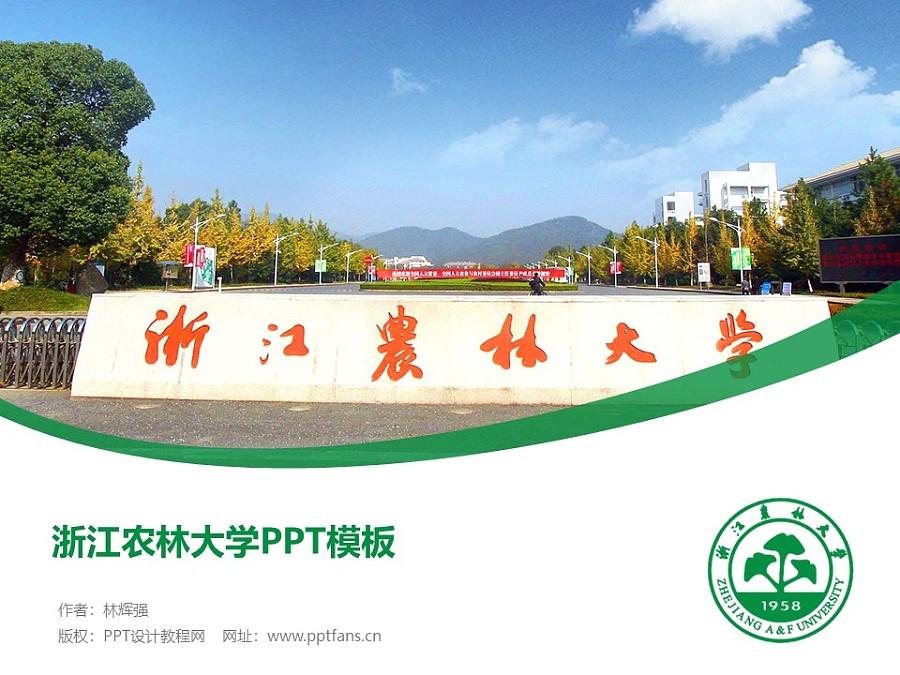 浙江农林大学PPT模板下载_幻灯片预览图1