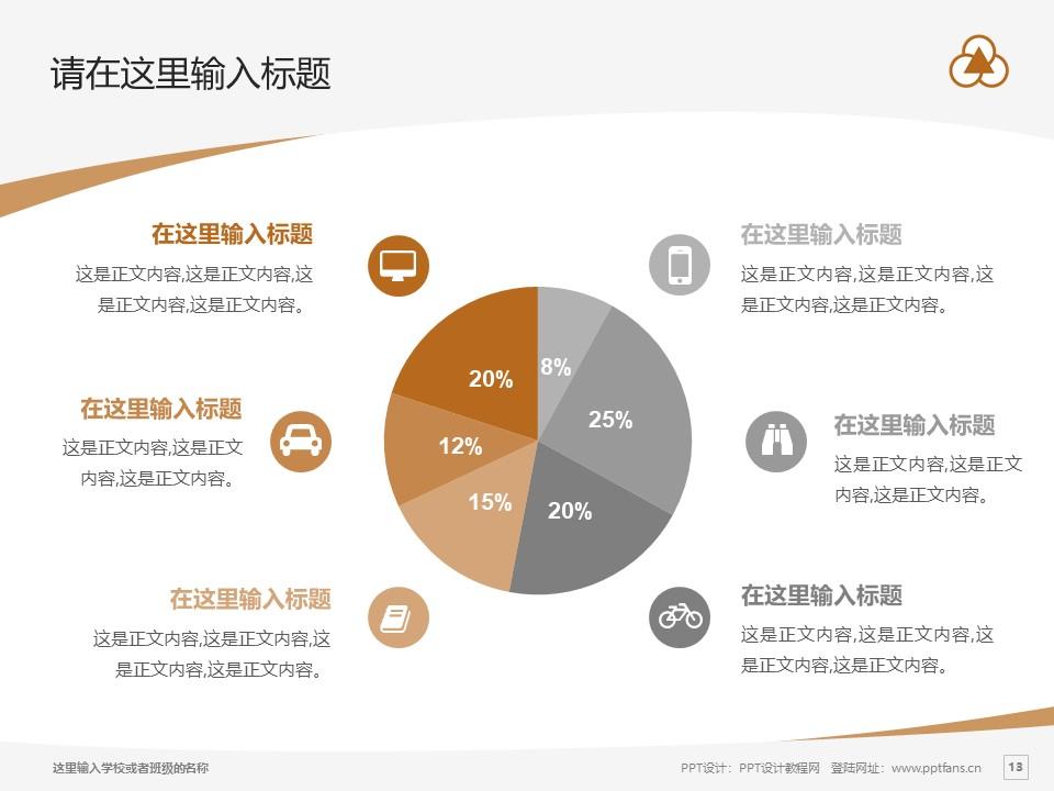 上海中华职业技术学院PPT模板下载_幻灯片预览图13
