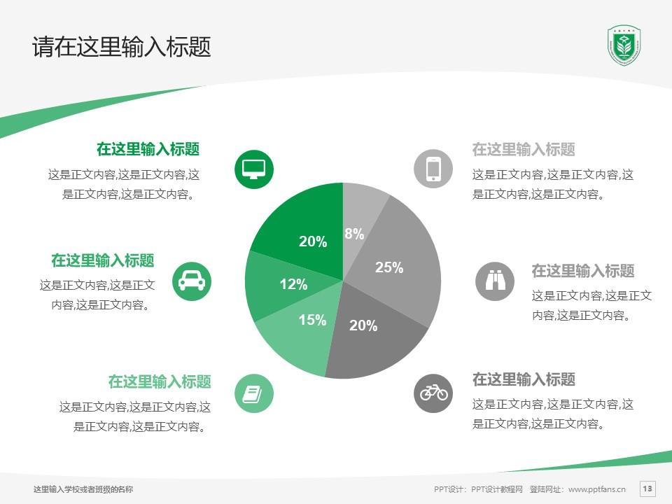 江苏食品药品职业技术学院PPT模板下载_幻灯片预览图13