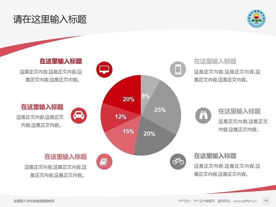 渤海石油职业学院PPT模板下载_幻灯片预览图13