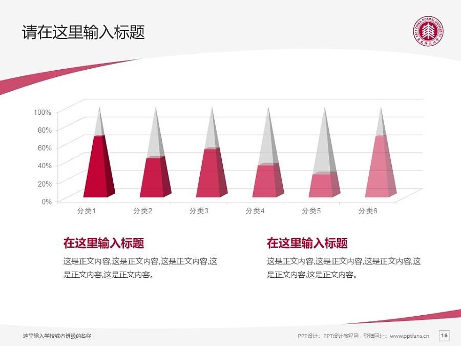 华东师范大学PPT模板下载_幻灯片预览图16