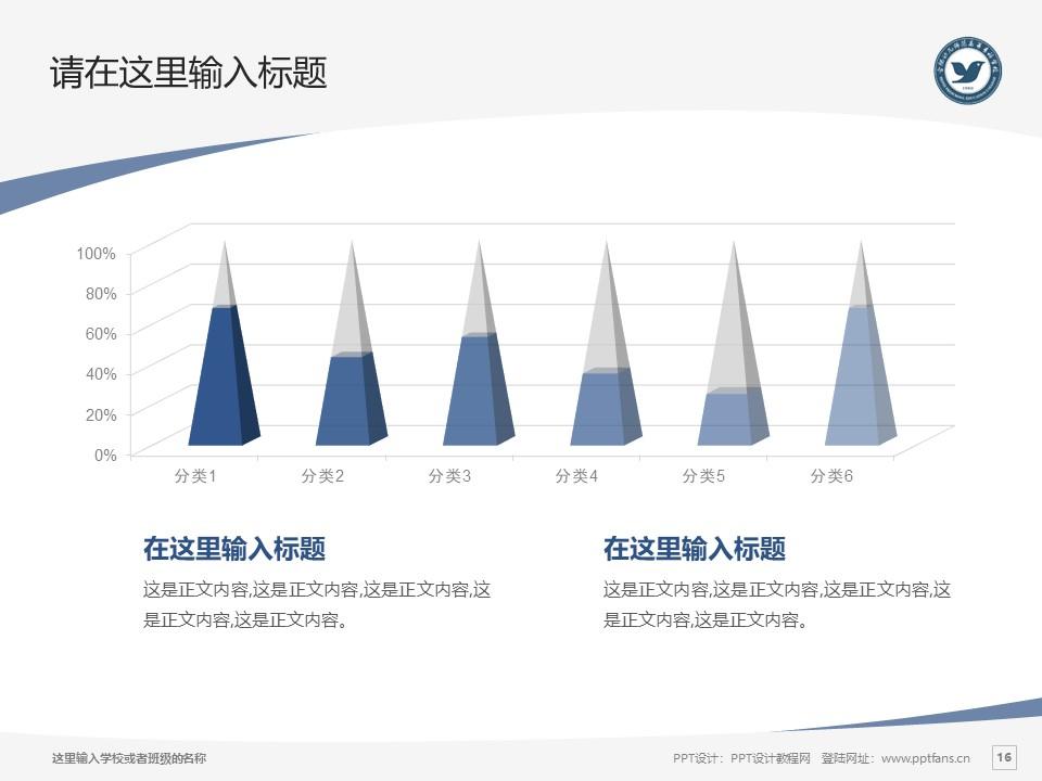 合肥幼儿师范高等专科学校PPT模板下载_幻灯片预览图16