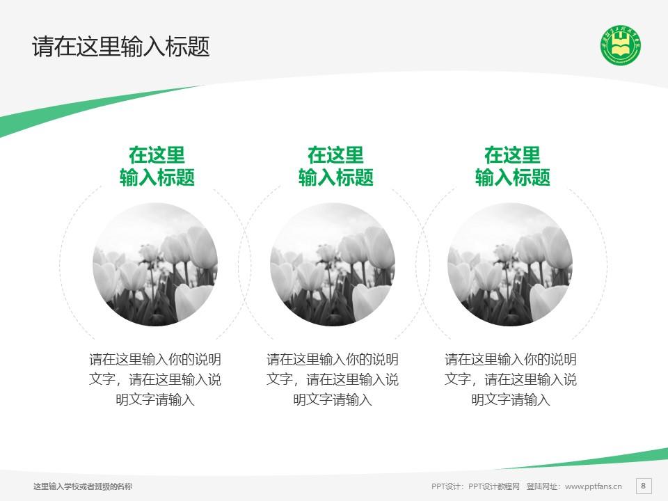 安徽粮食工程职业学院PPT模板下载_幻灯片预览图8