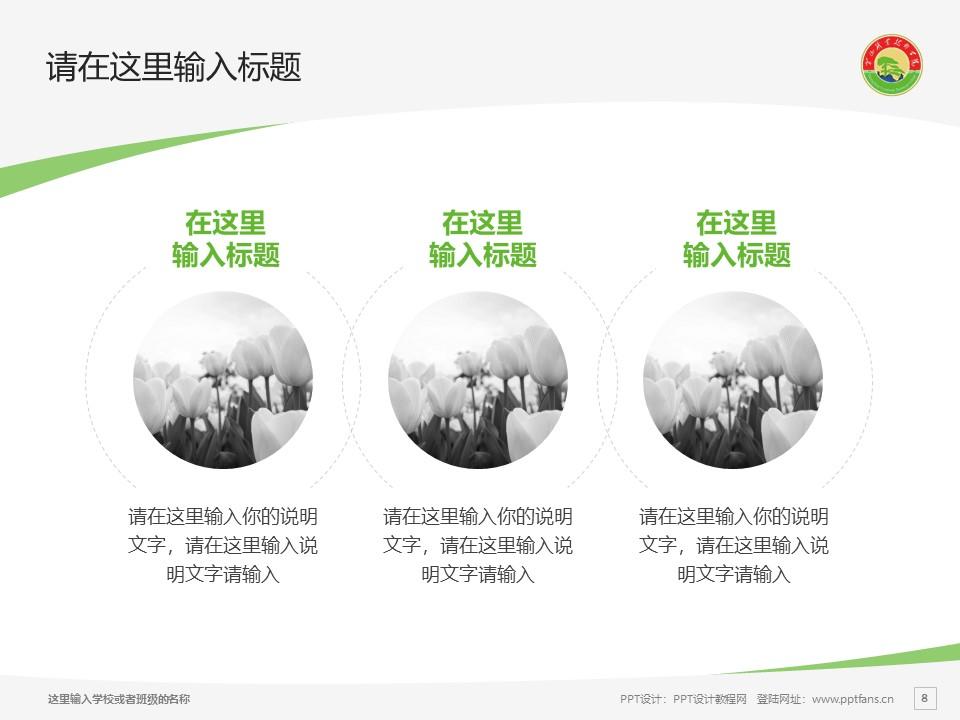 黄山职业技术学院PPT模板下载_幻灯片预览图8