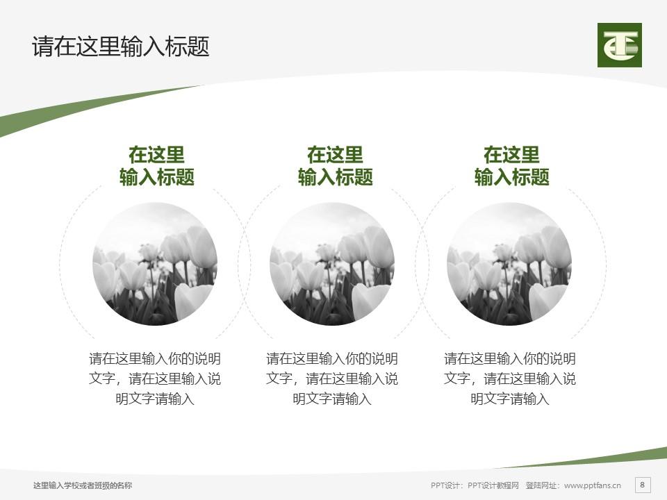 民办安徽旅游职业学院PPT模板下载_幻灯片预览图8