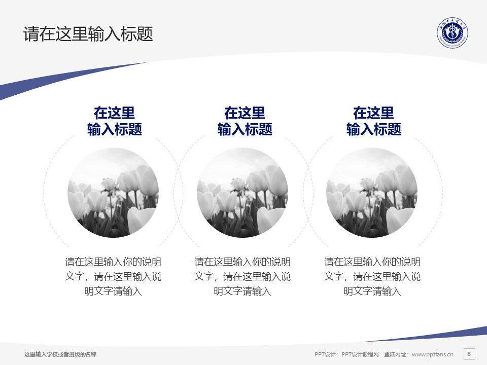 安徽中医药大学PPT模板下载_幻灯片预览图8