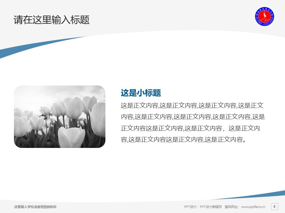 紫琅职业技术学院PPT模板下载_幻灯片预览图5