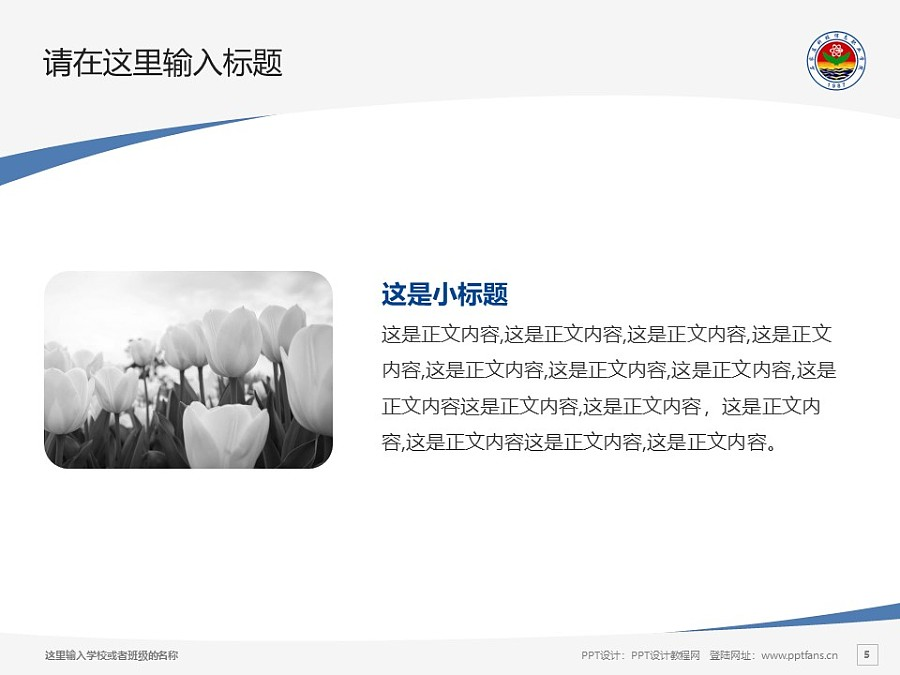 石家庄科技信息职业学院PPT模板下载_幻灯片预览图5