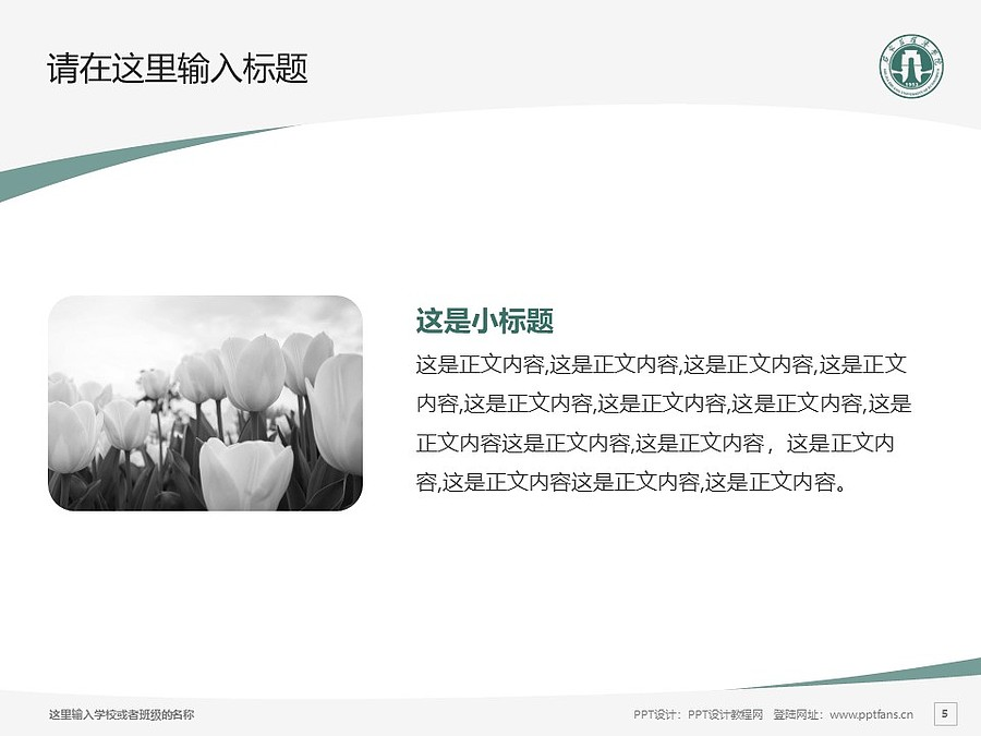 石家庄经济学院PPT模板下载_幻灯片预览图5