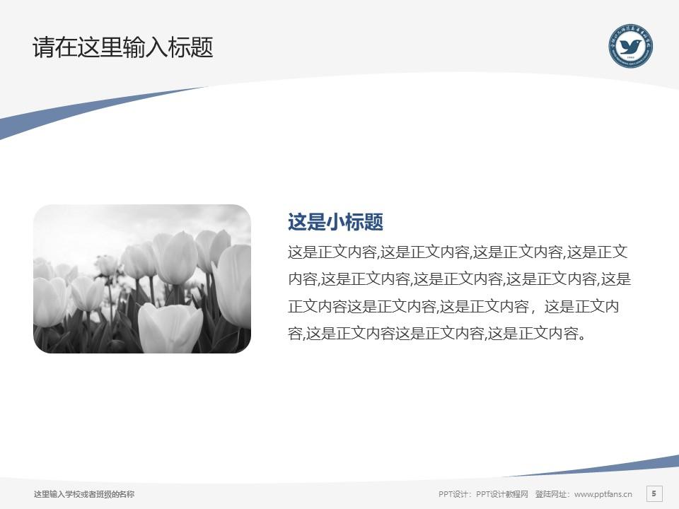 合肥幼儿师范高等专科学校PPT模板下载_幻灯片预览图5