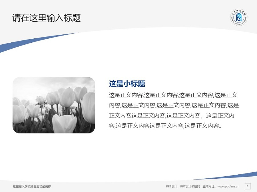 阜阳师范学院PPT模板下载_幻灯片预览图5
