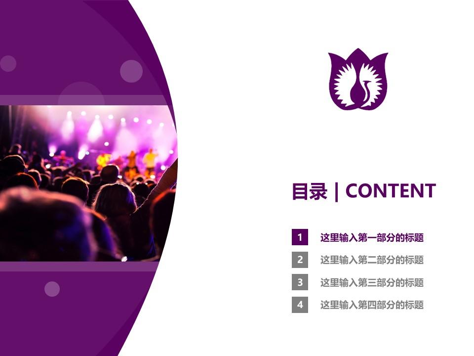 厦门演艺职业学院PPT模板下载_幻灯片预览图3