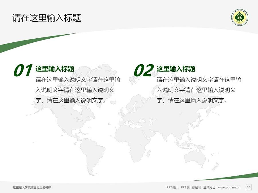 武威职业学院PPT模板下载_幻灯片预览图30