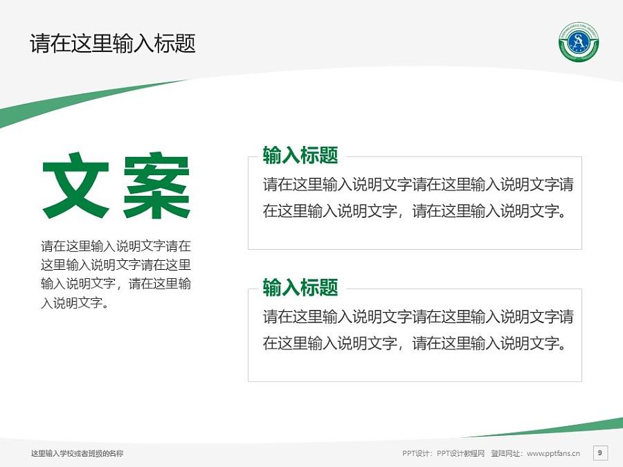 沈阳农业大学PPT模板下载_幻灯片预览图9