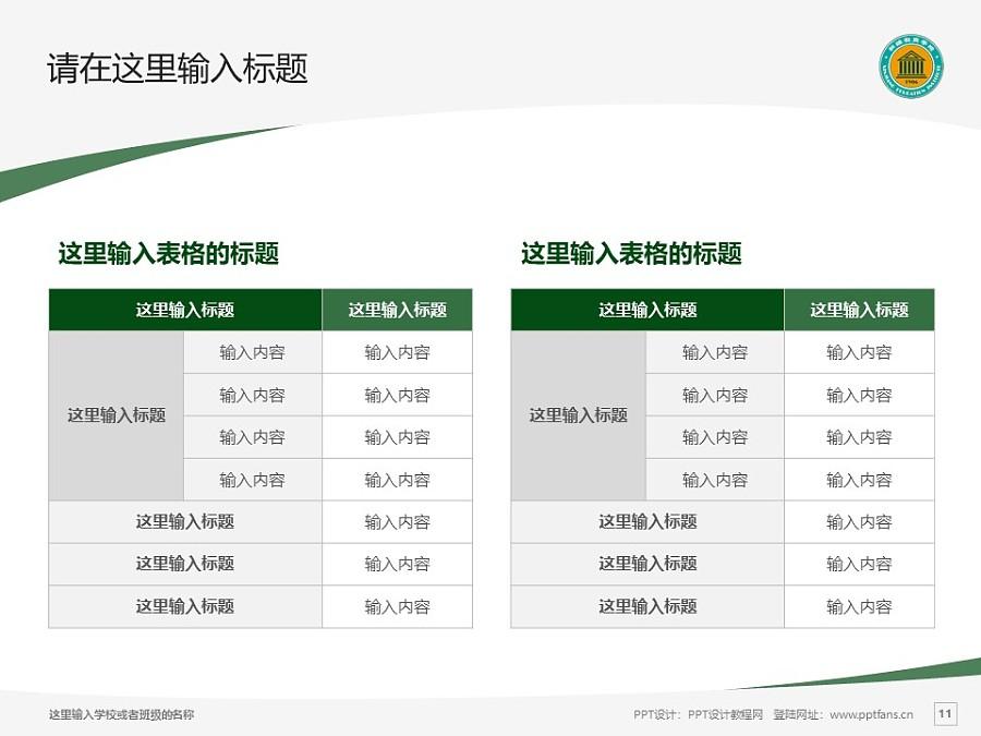 新疆师范高等专科学校PPT模板下载_幻灯片预览图11